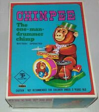 Chimpee Drummer Chimp Vintage Battery Operated Toy