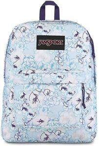 """JANSPORT SUPERBREAK Blue Sketch Floral Adult/Youth 25L 17"""" School Backpack $48"""