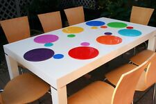 Dishwasher safe placemats and coasters. Pack of 8+8.Rainbow colours.Intech gecko
