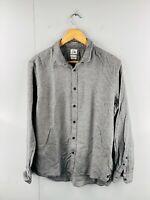 Quicksilver Men's Slim Long Sleeve Casual Dress Button Up Shirt Size L Grey