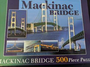 "Mackinac Bridge 500 Piece Jigsaw Puzzle  Complete 18"" X 24"""