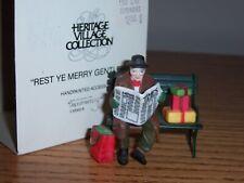 """Dept 56 """"Rest Ye Merry Gentleman"""" Village Accessory Nib"""