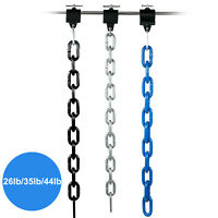 Weight Lifting Chains Olympic Bar Barbell Chains 26LB 35LB 44LB Chains w/Collars