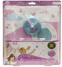 Disney Princess Wall Decoration Tick Tock Teller Glow In The Dark Gift