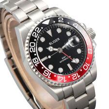 40mm BLIGER titanium Bezel GMT Luminous sapphire automatic Date Day mens watch