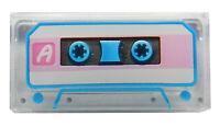 Lego Fliese 1x2 Audio Kassette transparent klar hellrosa Streifen 3069bpb696 Neu