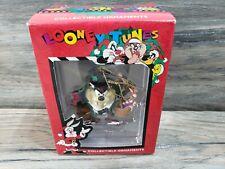 Vintage Looney Tunes Taz Devil Basket Collectible Christmas Ornament 1997 Matrix