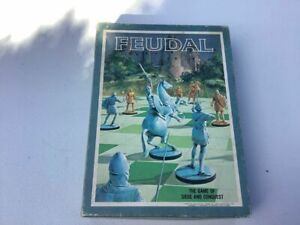 Feudal: the Game of Siege and Conquest. Vintage 1976 medieval war game.  rare