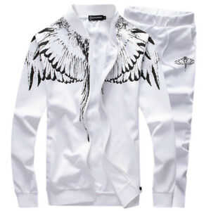 Autumn New Wing Printing Long Sleeve Trousers Casual Sportswear Male Teen Clothe