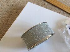 Women's sparkling silver colour tome bangle cuff brand new