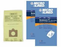 DVC Micro-Lined Bags Type C, Q, 5055, 50557, 50558 Fit Kenmore Canister-18 Bags