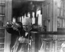 Thomas Edison experimenting in his laboratory New Jersey 1920 New 8x10 Photo