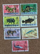 Belize Stamp Set. Franked. Animals British Colony. Ant Bear Warree Jew Gibnut