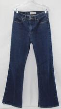 Abercrombie Fitch Women's Jeans Size 4 Dark Blue Denim Wash Boy Slouch Flare