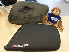 2014-16 C7 Corvette Genuine GM Black Napa Leather Console Lid Z06 Logo 23296454