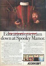 Acornsoft Spooky Manor Workshop ABC Talkback 1984 Magazine Advert #5203