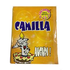 CUMPLEAÑOS tarjeta de musical canta nome CAMILLA y FELIZ En TE