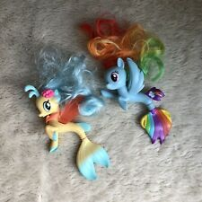 Rainbow Dash Skystar My Little Pony Land & Sea Mermaids Lot Seapony Figures