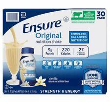 Ensure Original Nutrition Shake 8 fl. oz., 30-pack Vanilla Free Shipping