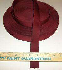 BELT ELASTIC 2 YARDS BURGUNDY Red Non-roll 1 inch Sewing Supplies Crafts Trims