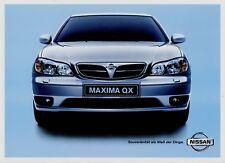 Nissan maxima QX promocional 2000 card automobilia auto publicidad auto publicidad (03)