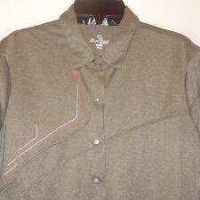 Shirt Gray Top Size X-Large XL Woman Pearl Izumi Snap Button Down