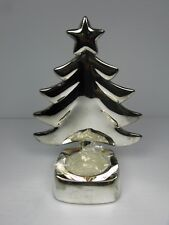 """Regent Square Christmas Tree 6"""" Silver Plated Candle Holder Including Candle"""