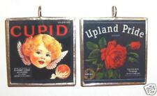 CUPID / UPLAND PRIDE FRUIT CRATE ART GLASS PENDANT