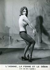 L'HOMME LA FEMME ET LE DESIR 60s PHOTO VINTAGE LOBBY CARD SEXPLOITATION PIN-UP