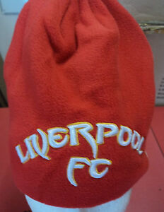 LIVERPOOL F C RED KOP FLEECE BEANIE  BY WARRIOR ONE SIZE BRAND NEW WITH TAGS