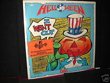 SEALED! HELLOWEEN I WANT OUT LIVE LP W/STICKER-MTV PERFECT HEAVY METAL ORIG RARE
