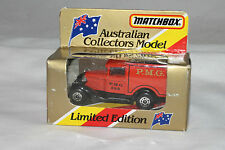 MATCHBOX AUSTRALIAN COLLECTOR'S MODEL MB-38 MODEL A VAN P.M.G., MINT BOXED