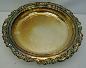 Wallace Baroque Footed Pie Plate No 251 Silverplate