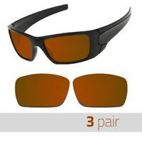 3 Pair Optico Replacement Polarized Lenses for Oakley Fuelcell Sunglasses Brown