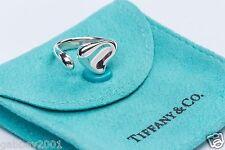 Tiffany & Co. Elsa Peretti Sterling Silver Full Heart Ring Size 6 w/ Pouch