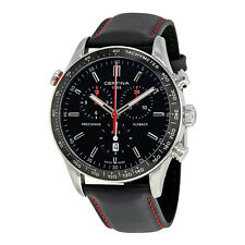 Certina DS-2 Flyback Chronograph Black Dial Mens Watch C0246181605100