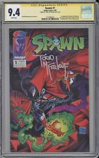 Spawn #1 CGC SS 9.4 Todd McFarlane signed 1992 First Appearance Al Simmons IMAGE