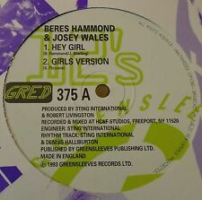 "BERES HAMMOND & JOSEY WALES ~ Hey Girl ~ 12"" Single"