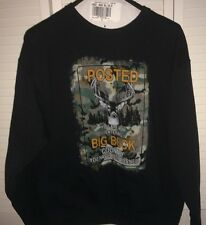 JERZEES Z Blend Mens Size XL Black Pull Over BIG BUCK COUNTRY Sweatshirt NEW