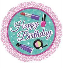 "5 Happy Birthday Makeup Cosmetics 18"" Balloons Birthday Party Decorations"