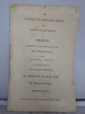1809 The Christian Pastor's Duty - Ordination of Rev William Hull -William Parry