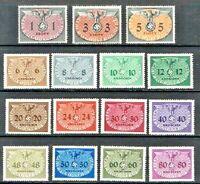 jimace29  Poland,#1-15  German Occupation Stamps, Mint NH O.G.