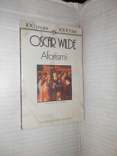 AFORISMI Oscar Wilde Riccardo Reim Newton 1993 tascabili 100 pagine 1000 lire
