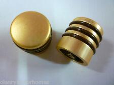HANDLE KNOB DALESMAN CUPBOARD DRAWER GOLD BROWN CARAVAN PAIR