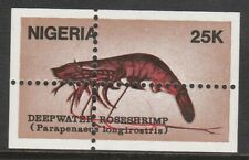 Nigeria 2668 - 1988 SHRIMPS  MISPLACED  PERFS  unmounted mint