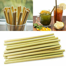 12Pcs Bamboo Drinking Straws Eco-friendly Reusable Kitchen Straw Cleaner Tools