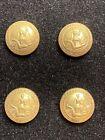 4 Confederate Virginia Seal Cuff Kepi Buttons Civil War Mintzer 15mm