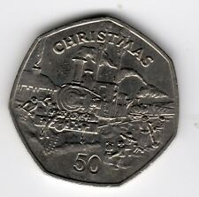 More details for 1984 50p coin iom christmas sutherland stream train ac isle of man fifty iom226