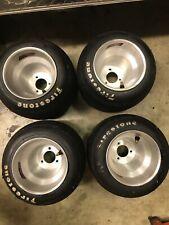 Go Kart Racing Aluminum Wheels And Firestone Tires