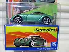 Matchbox 2004 Superfast #35 Metallic Green TVR TUSCAN S Car New Mint in Mint Box